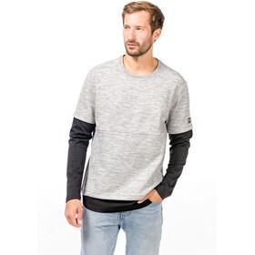 super.natural Motion T-shirt manches longues double épaisseur Homme, ash melange/jet black
